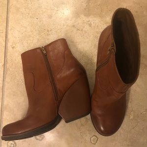 Kork-Ease Brown Leather Bootie Size 10